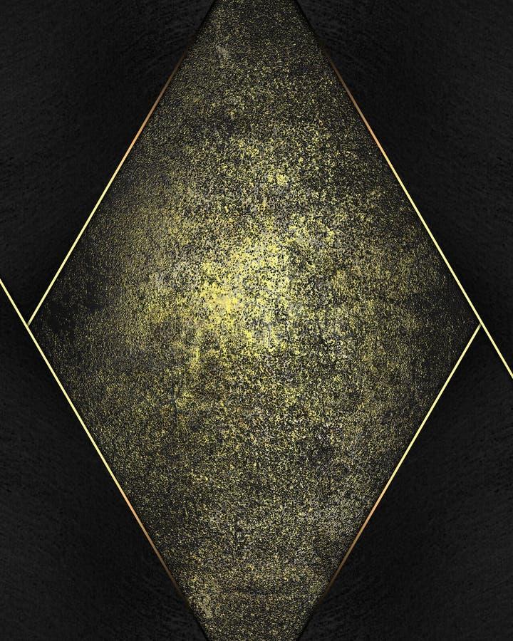 Fondo del metal del Grunge con el marco negro Plantilla para el diseño copie el espacio para el folleto o la invitación del aviso libre illustration