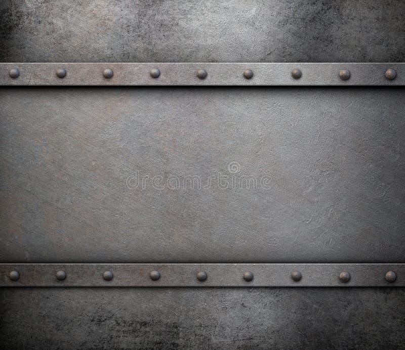 Fondo del metal del Grunge con los remaches imagen de archivo libre de regalías