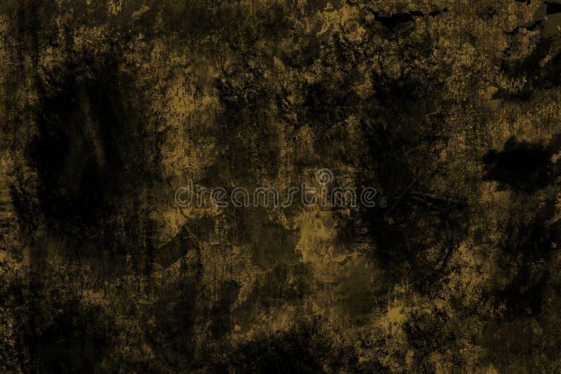 Fondo del metal del Grunge, textura de acero amarilla llevada imagenes de archivo
