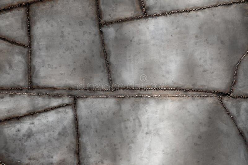 Fondo del metal soldado con autógena fotografía de archivo libre de regalías