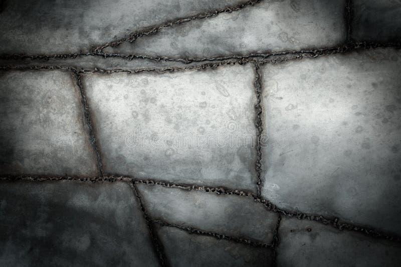 Fondo del metal soldado con autógena imágenes de archivo libres de regalías