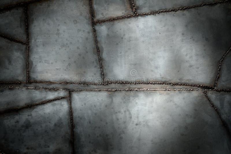 Fondo del metal soldado con autógena imagen de archivo libre de regalías