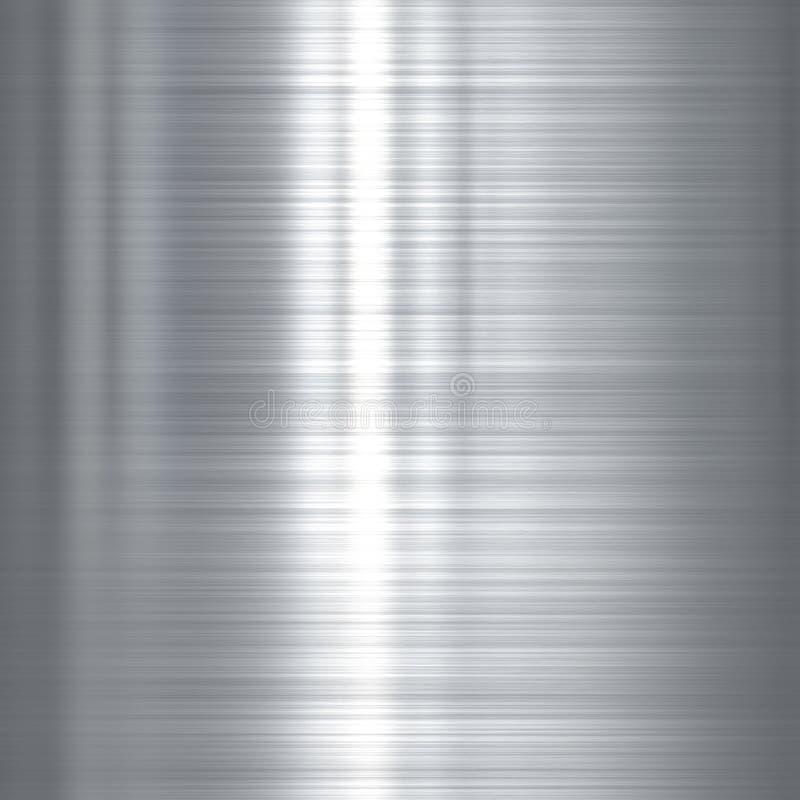 Fondo del metallo dell'acciaio inossidabile illustrazione di stock