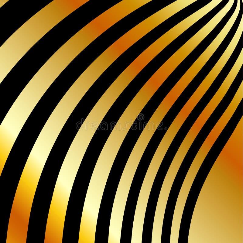 Fondo del metallo dell'oro dell'alto grado illustrazione vettoriale