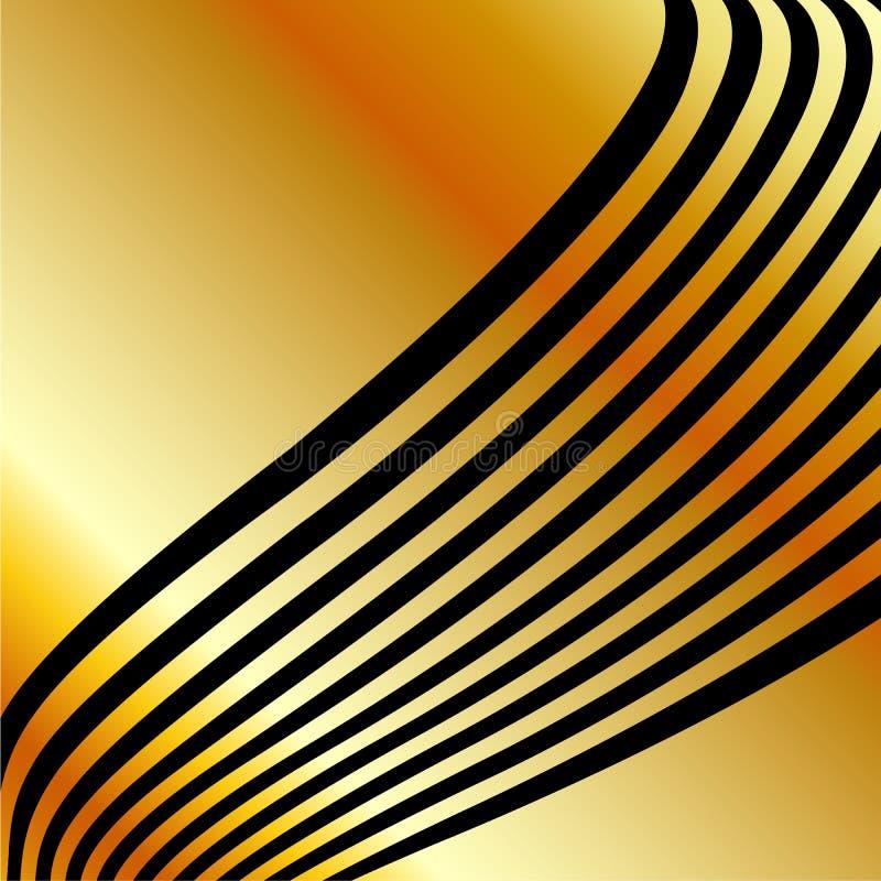 Fondo del metallo dell'oro dell'alto grado royalty illustrazione gratis