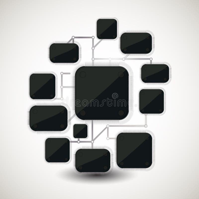 Fondo del microchip illustrazione vettoriale