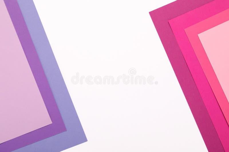 Fondo del minimalismo de la textura del papel coloreado Formas y líneas geométricas imagen de archivo