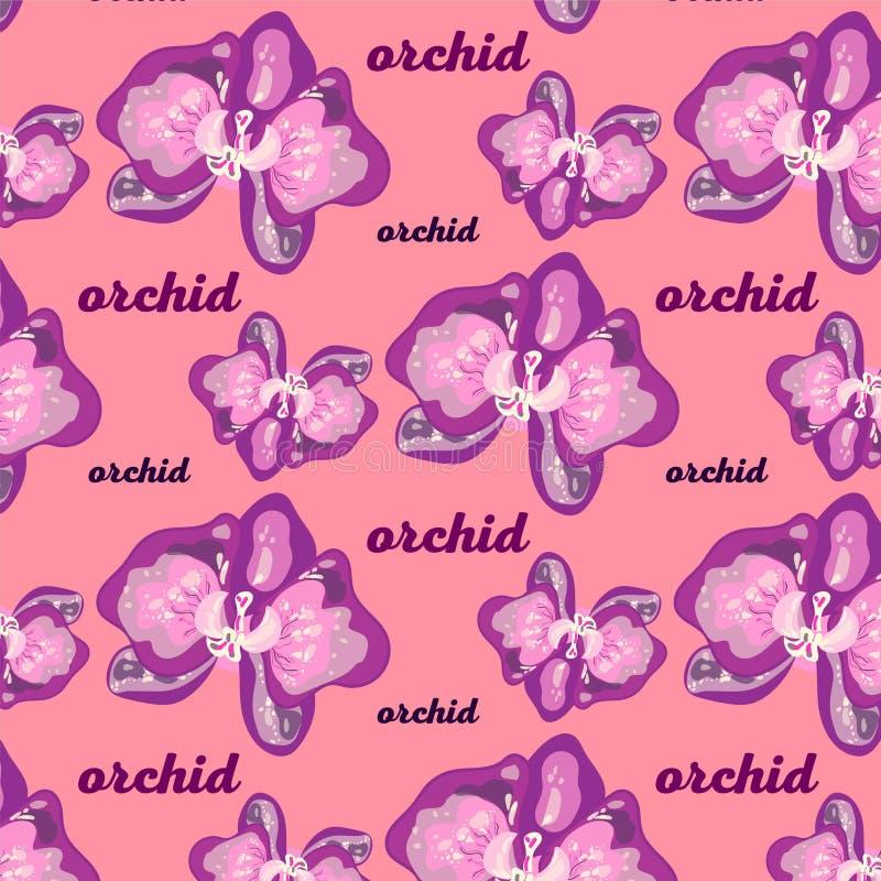 fondo del modello con i fiori delle orchidee immagini stock libere da diritti
