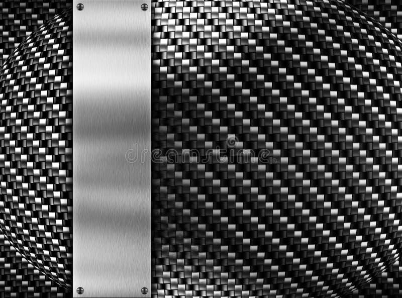 Fondo del modello del metallo illustrazione vettoriale