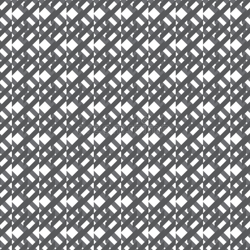 Fondo del modello del tessuto del quadrato grigio scuro e bianco royalty illustrazione gratis