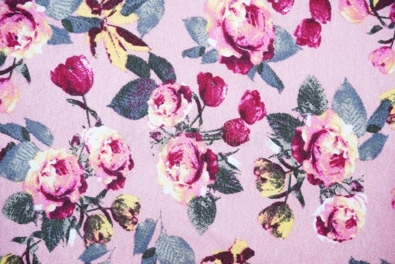 Fondo del modello del tessuto della rosa di rosa immagine stock libera da diritti