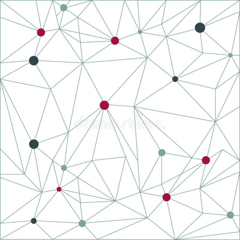 Fondo del modello del triangolo nella linea Insegne variopinte del mosaico La VE illustrazione vettoriale