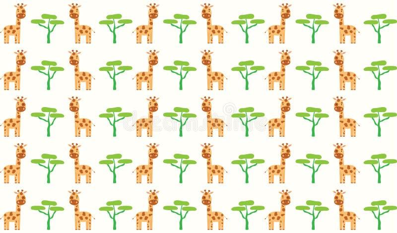 Fondo del modello della giraffa illustrazione vettoriale