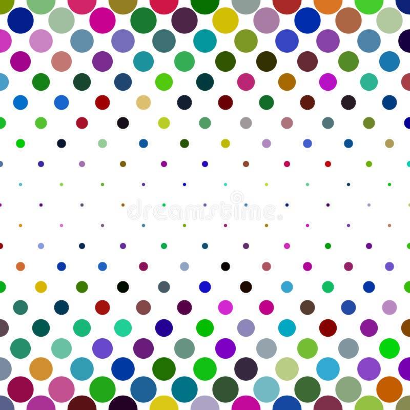 Fondo del modello di punto - progettazione geometrica astratta di vettore dai cerchi nei toni variopinti illustrazione vettoriale