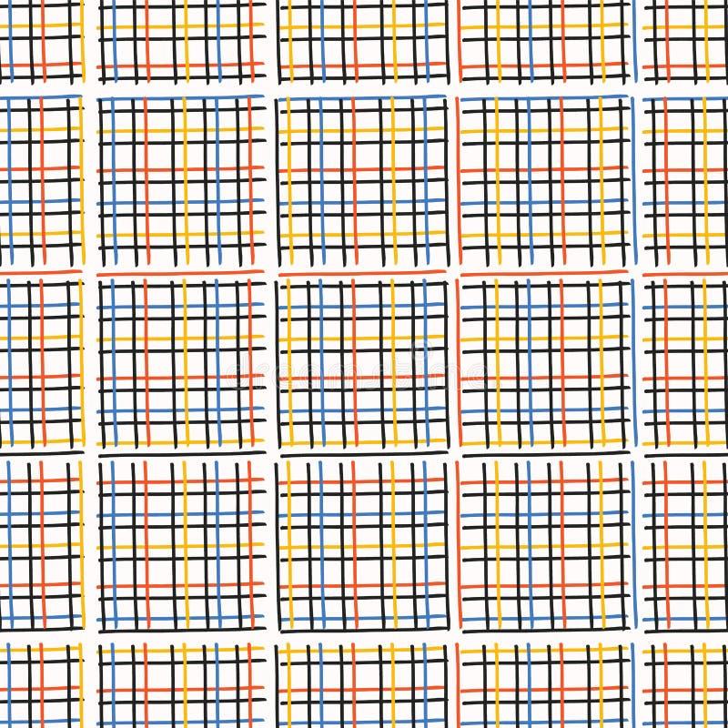 Fondo del modello di vettore di Criss Cross Weave Hand Drawn illustrazione vettoriale