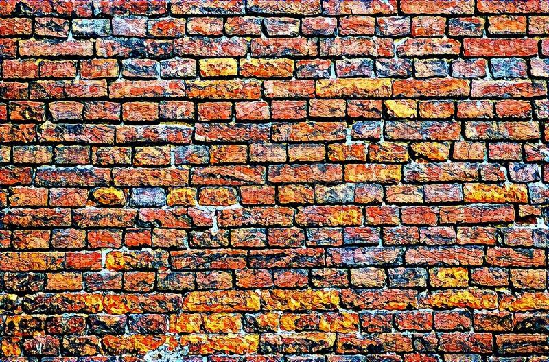 Fondo del modello del muro di mattoni royalty illustrazione gratis