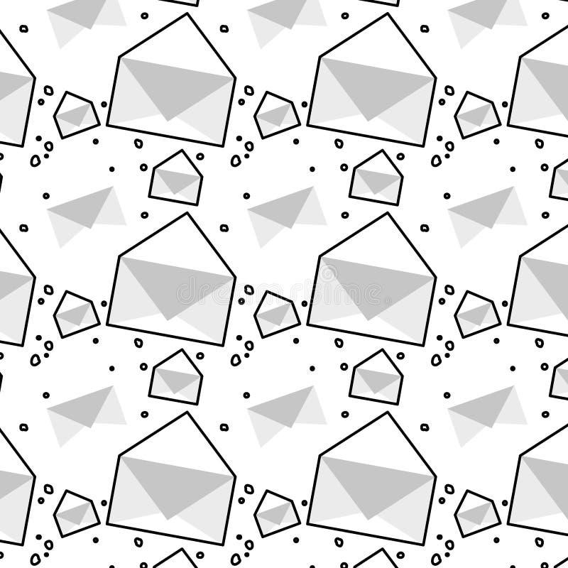 Fondo del modelo del correo del sobre ilustración del vector