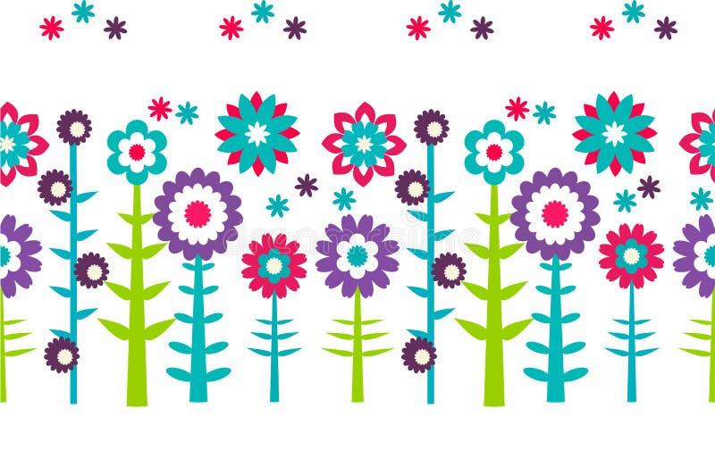 Fondo del modelo de flores del verano libre illustration