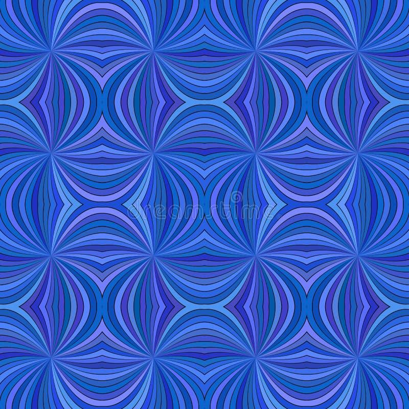 Fondo del modelo de la raya del rayo de la persona hipnotizada que remolina abstracta inconsútil azul ilustración del vector