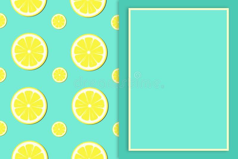 Fondo del modelo de la rebanada del limón - ejemplo ilustración del vector