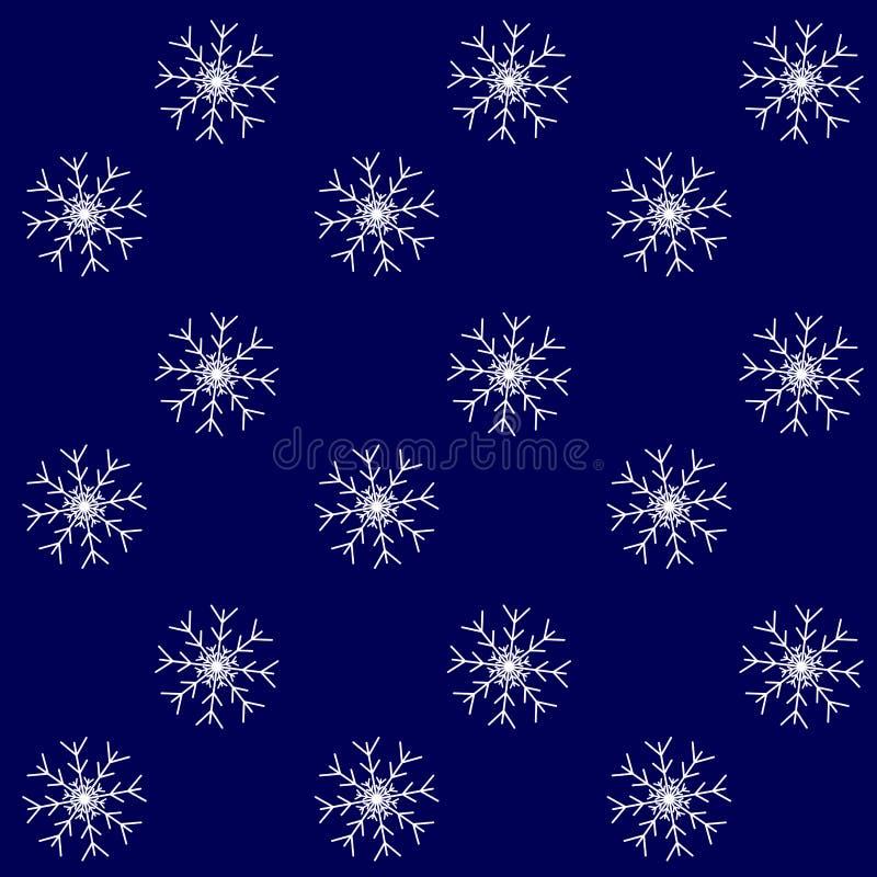 Fondo del modelo de la tormenta de la nieve inconsútil ilustración del vector