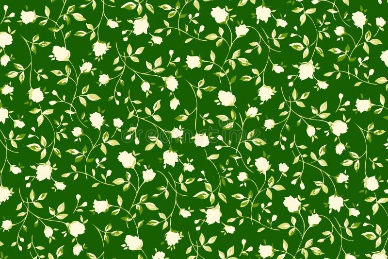 Fondo del modelo de las rosas blancas Dise?o de la ilustraci?n libre illustration