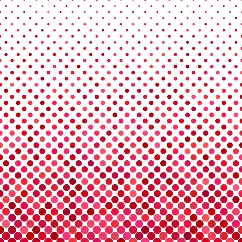 Fondo del modelo de punto - diseño gráfico geométrico de vector de círculos en tonos rojos ilustración del vector