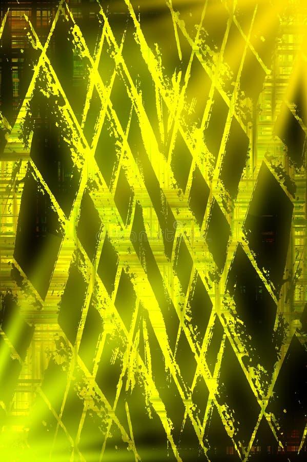 Fondo del modelo del extracto del amarillo del grunge del arte ilustración del vector