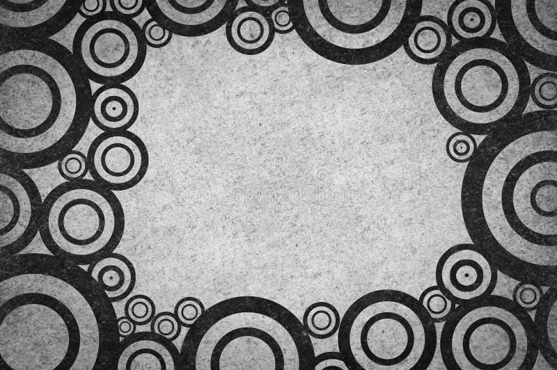 Fondo del modelo del extracto del círculo del negro del grunge del arte ilustración del vector
