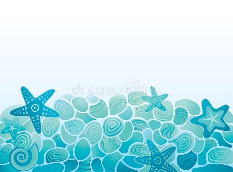 Fondo del modelo del mar stock de ilustración