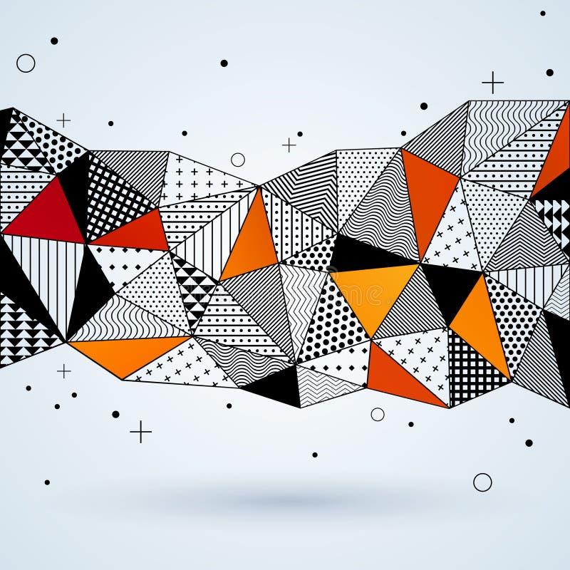 Fondo del modelo del triángulo ilustración del vector