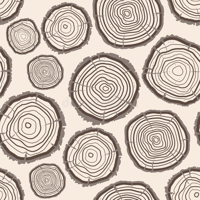 Fondo del modelo del tronco de los anillos de árbol Vector ilustración del vector