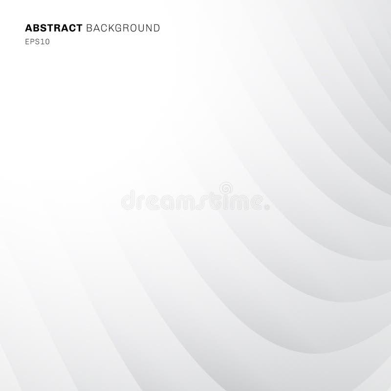 Fondo del modelo diagonal de la curva geométrica abstracta textura blancos y grises del color y libre illustration