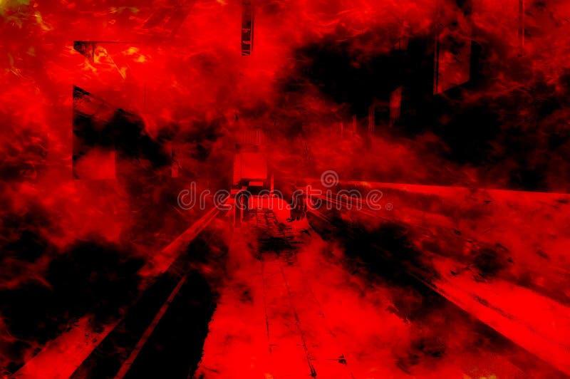 Fondo del modelo del extracto del fuego rojo del arte stock de ilustración