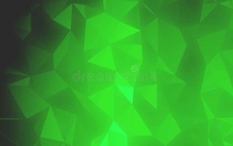 Fondo del modelo del extracto del polígono del color verde del arte ilustración del vector