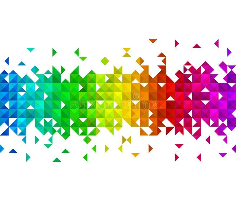 Fondo del mosaico del triángulo libre illustration