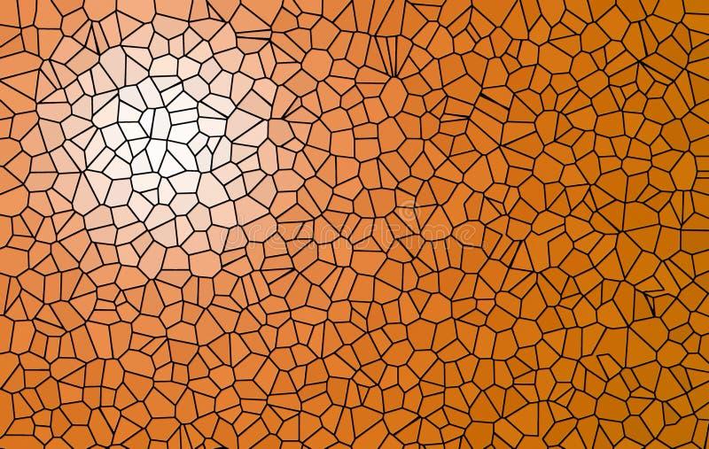 Fondo del mosaico di Brown per la vostra copia illustrazione di stock