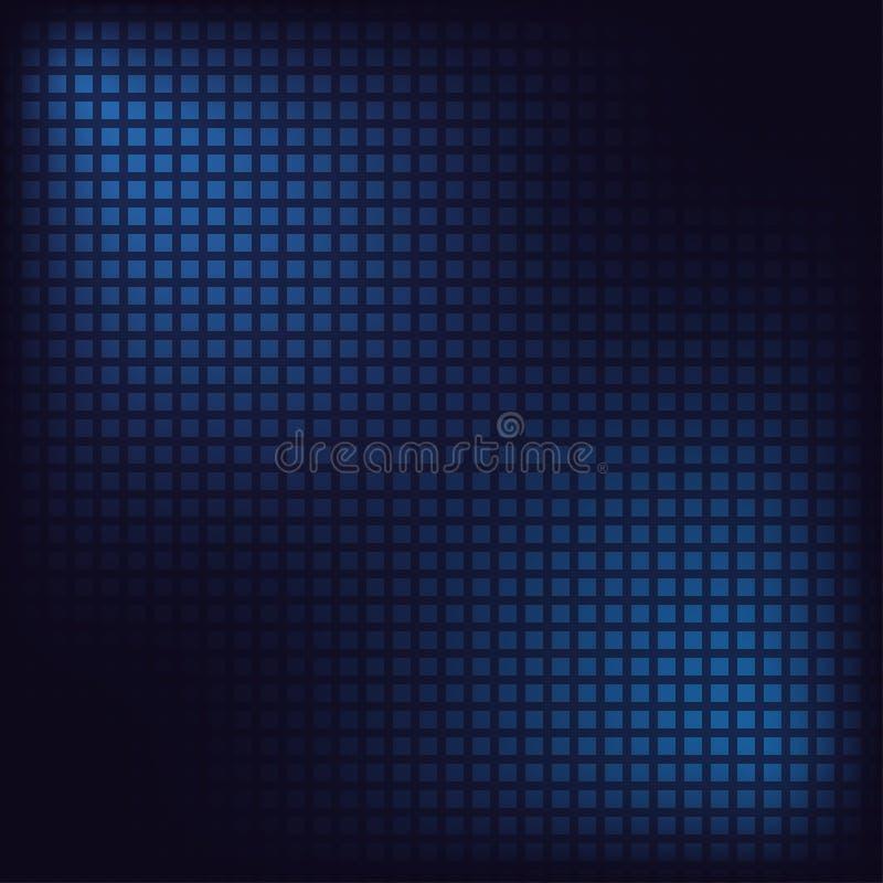Fondo del mosaico del pixel Cuadrados azules Contexto abstracto de Digitaces Vector ilustración del vector