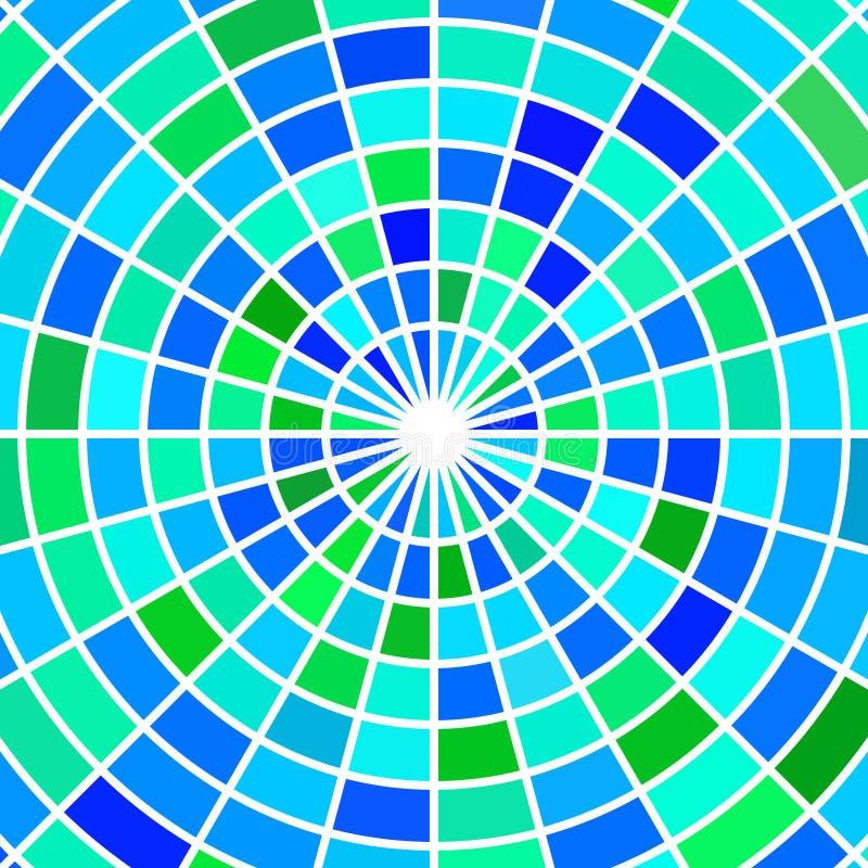 Fondo del mosaico del vetro macchiato di vettore illustrazione di stock