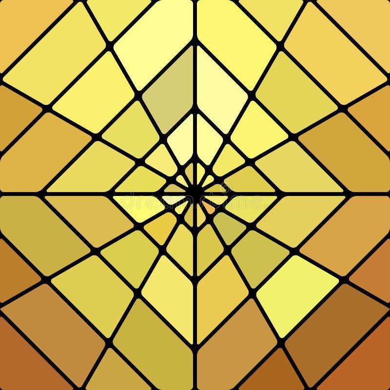 Fondo del mosaico del vetro macchiato di vettore illustrazione vettoriale