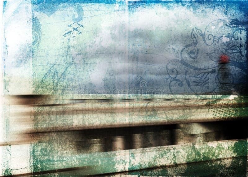 Fondo del movimiento de Grunge ilustración del vector