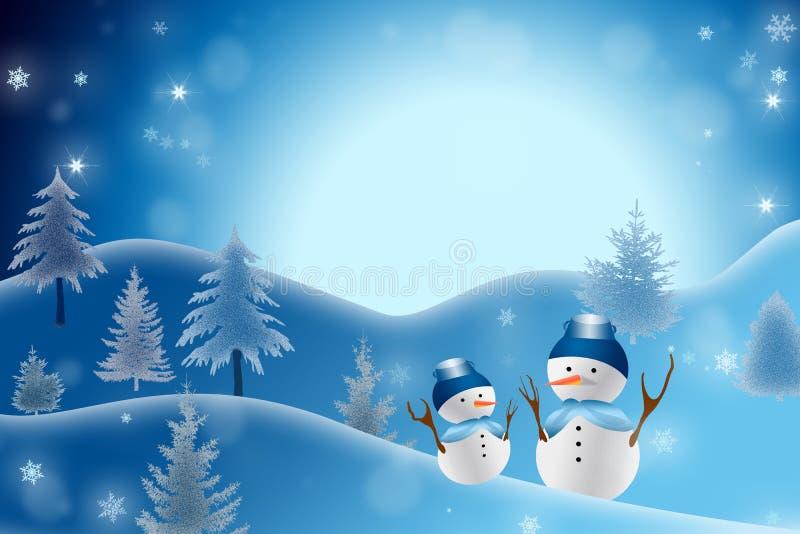Fondo del muñeco de nieve de la Navidad ilustración del vector