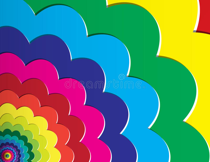 Fondo del multicolor ilustración del vector