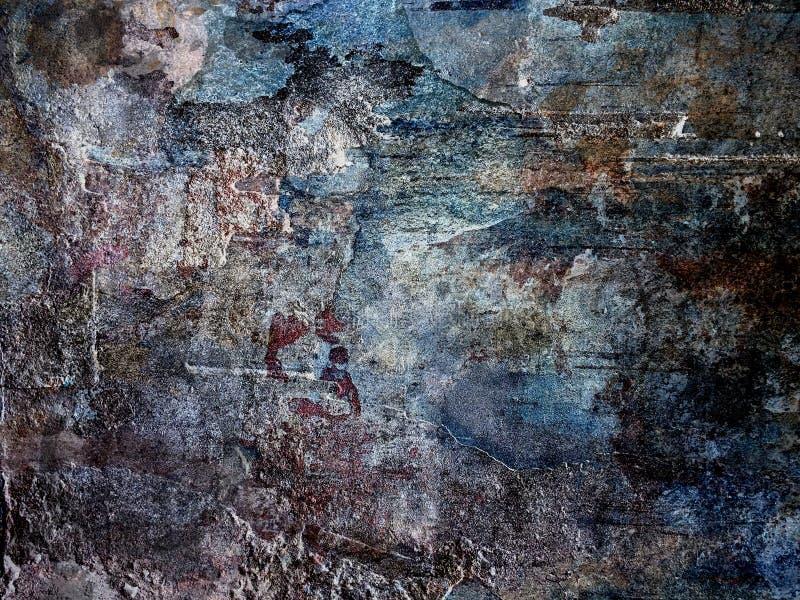 Fondo del muro de cemento Versión oscura fotografía de archivo libre de regalías