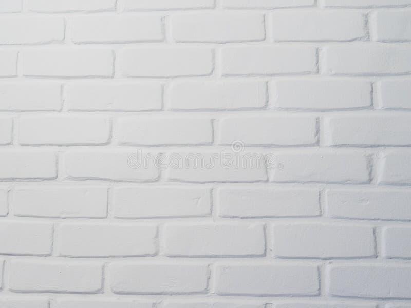 Fondo del muro di mattoni bianco o struttura astratto bianco del muro di cemento con lo stucco ruvido Gesso nocivo strutturato, s fotografie stock libere da diritti