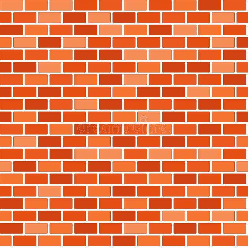Fondo del muro di mattoni di Brown - vettore Reticolo originale illustrazione di stock