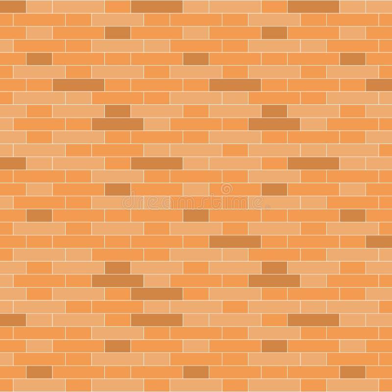 Fondo del muro di mattoni di Brown - illustrazione di vettore illustrazione di stock