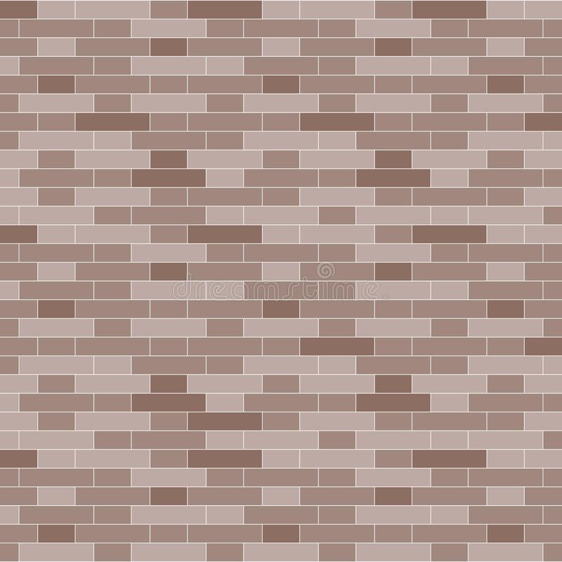 Fondo del muro di mattoni di Brown - illustrazione di vettore illustrazione vettoriale