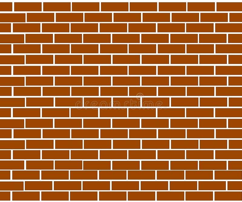 Fondo del muro di mattoni fatto dei mattoni marroni illustrazione di stock