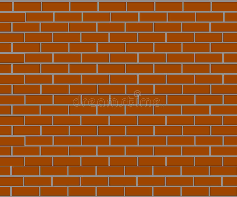 Fondo del muro di mattoni fatto dei mattoni marroni royalty illustrazione gratis
